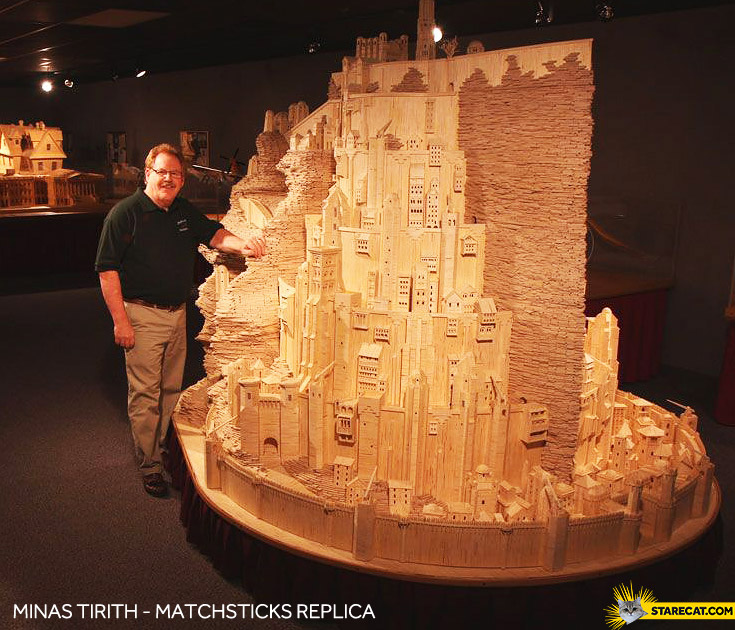Minas Tirith match sticks replica