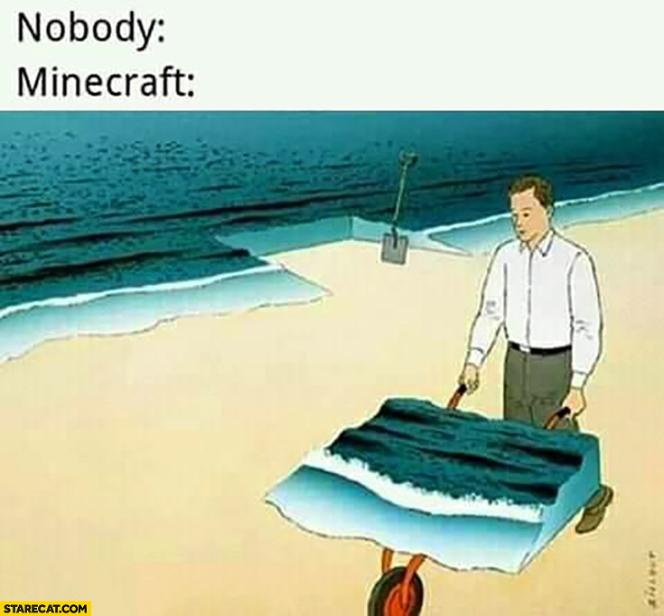Minecraft game where you can take out part of sea