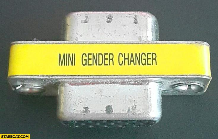 Mini gender changer