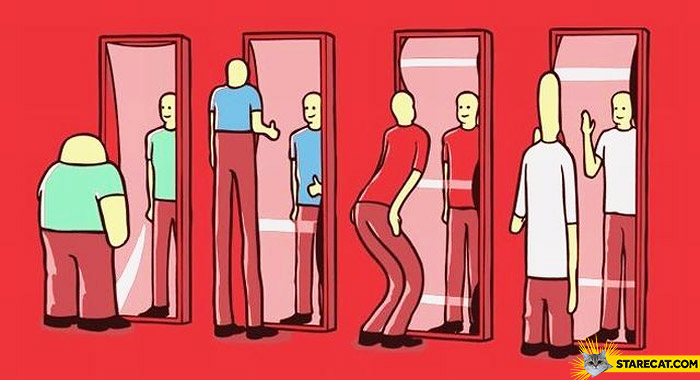 Mirrors in parrallel universe