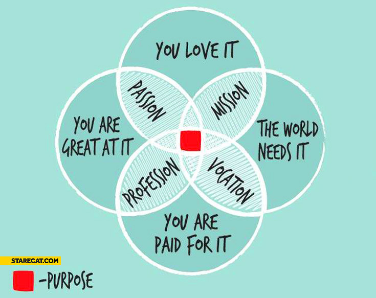 Mission passion profession vocation purpose graph