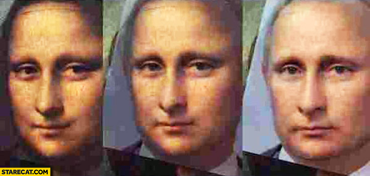 Mona Lisa Putin face