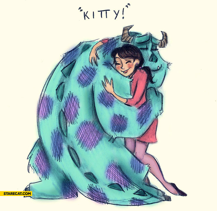 Monsters Inc. kitty hug