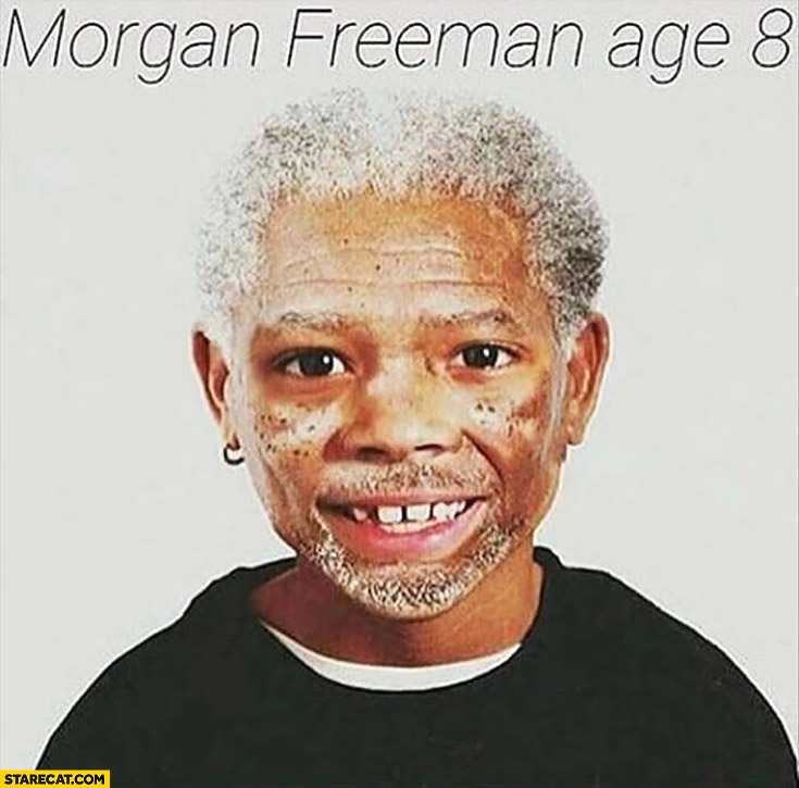 Morgan Freeman at the age of 8 eight