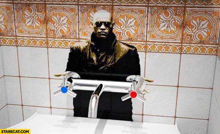 Morpheus hot cold water blue pill red pill you choose