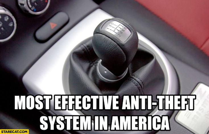 Most effective anti-theft system in America manual transmission gearbox
