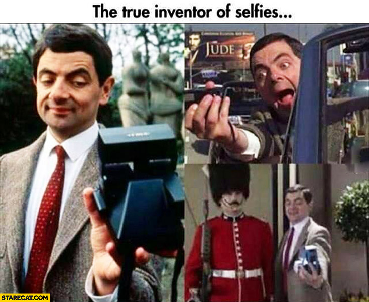Mr. Bean true inventor of selfies