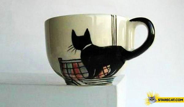 Mug cat tail