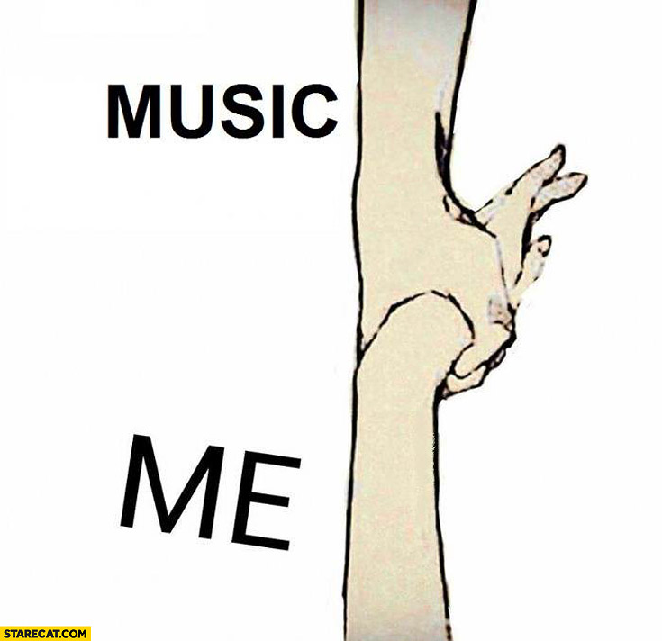 Music me holding hand