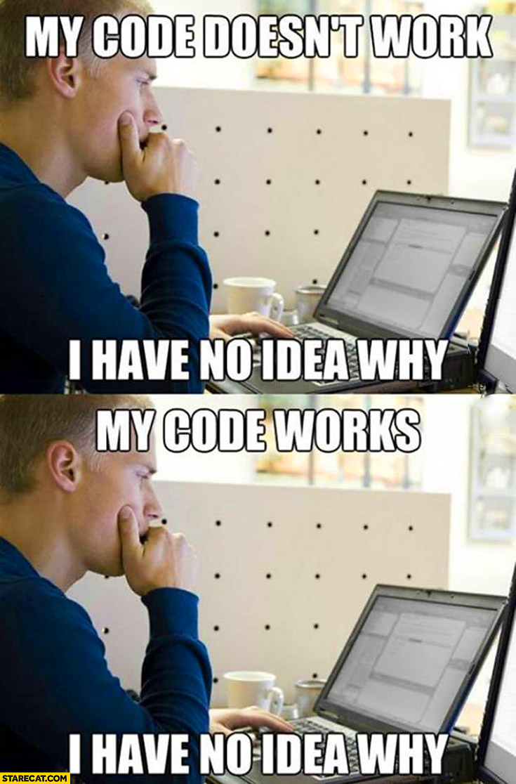 My code doesn't work I have no idea why my code works