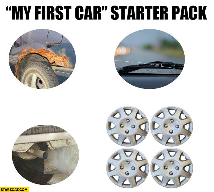 My first car starter pack