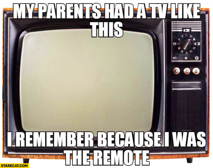 My parents had a TV like this, I remember because I was the remote