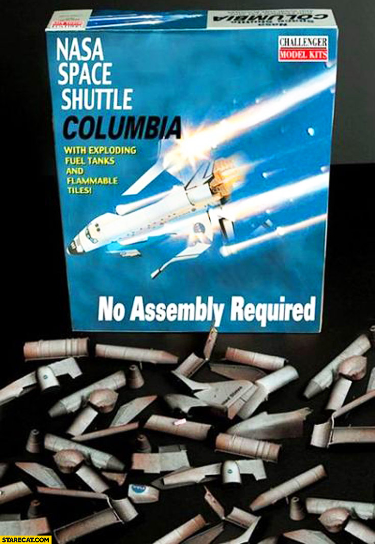 NASA Space Shuttle Columbia toy no assembly required trolling