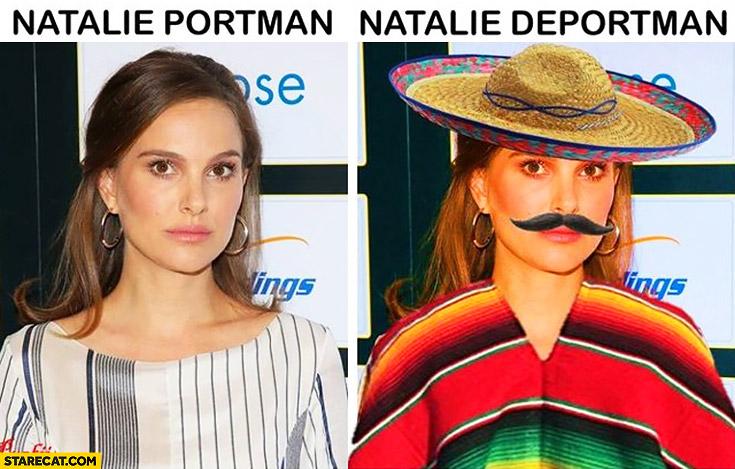 Natalie Portman vs Natalie Deportman Mexican outfit