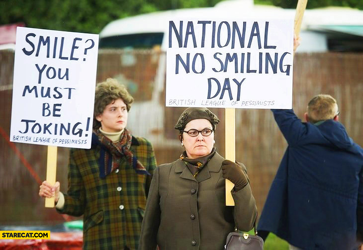 National no smiling day