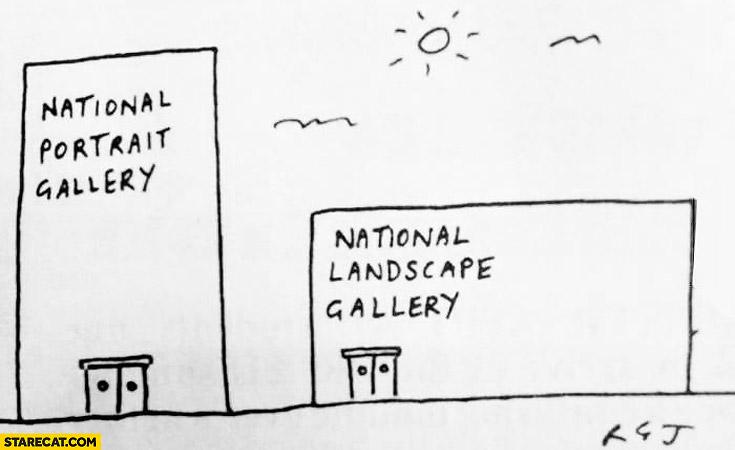 National portrait gallery National landscape gallery