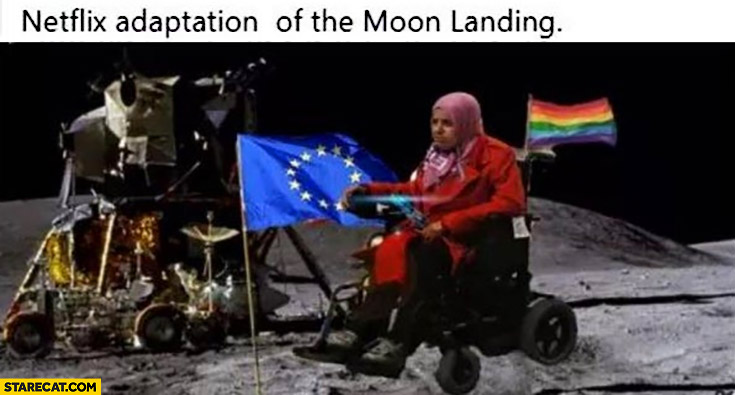 Netflix adaptation of the moon landing LGBT impaired black person