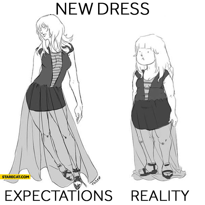 New dress expectations reality