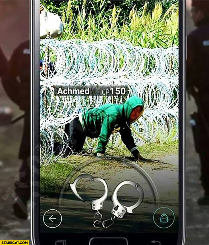 New Pokemon GO game where you catch illegal immigrants and arrest them