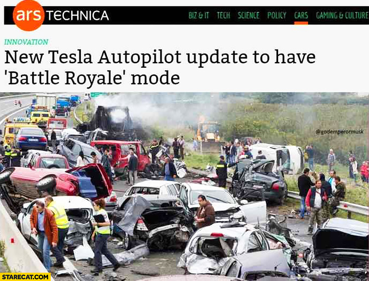 New Tesla autopilot update to have battle royale mode