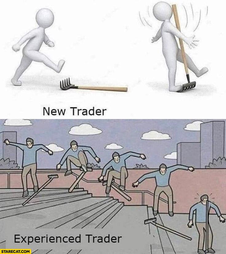 New trader vs experienced trader rake fail skate shove it