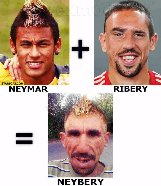 Neymar + Ribery = Neybery