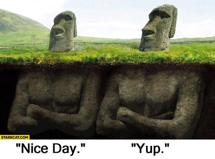 Nice day yup moai sculptures