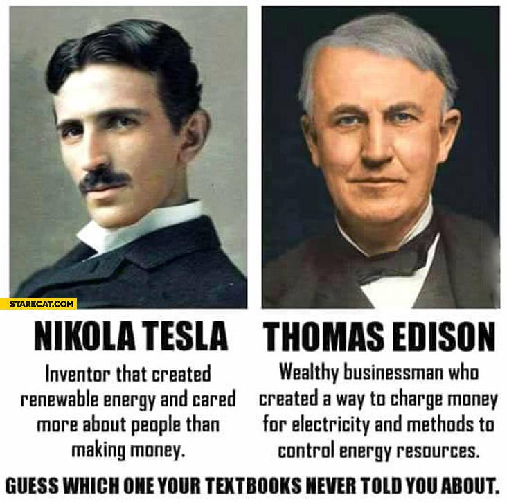Nikola Tesla vs Thomas Edison which one your textbooks never told you about?