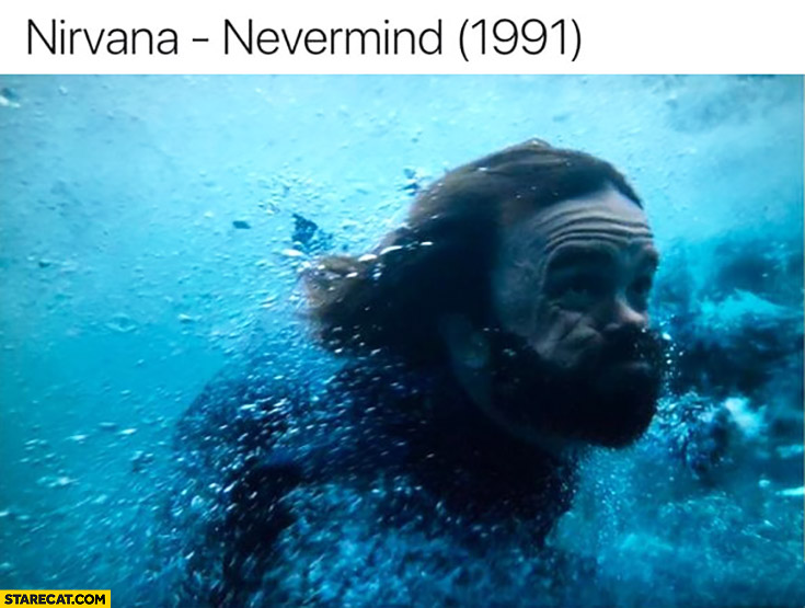 Nirvana Nevermind 1991 album cover Game of Thrones Tyrion Lannister
