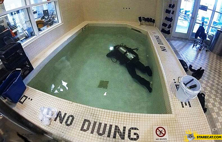 No diving trolling