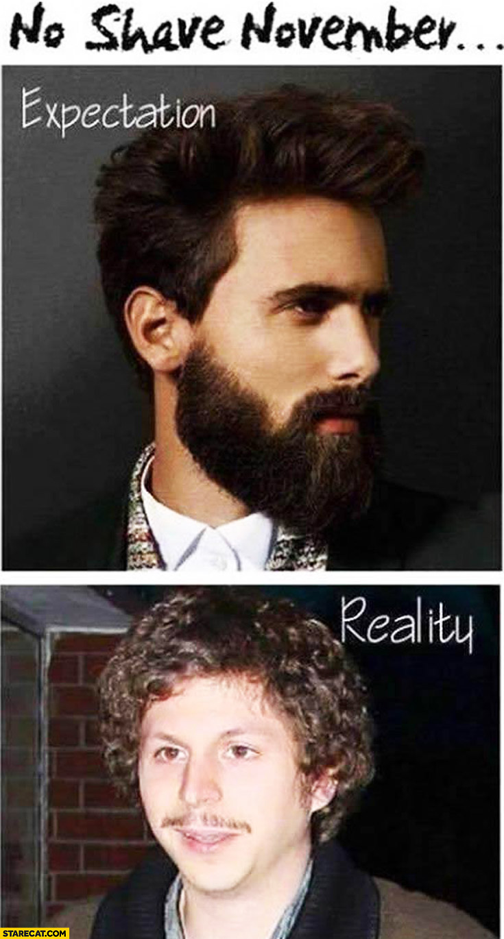 No shave November: expectation, reality fail