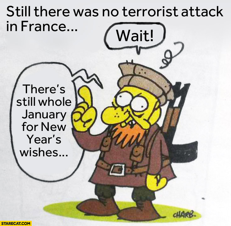No terrorist attack in France wait January for New Years wishes
