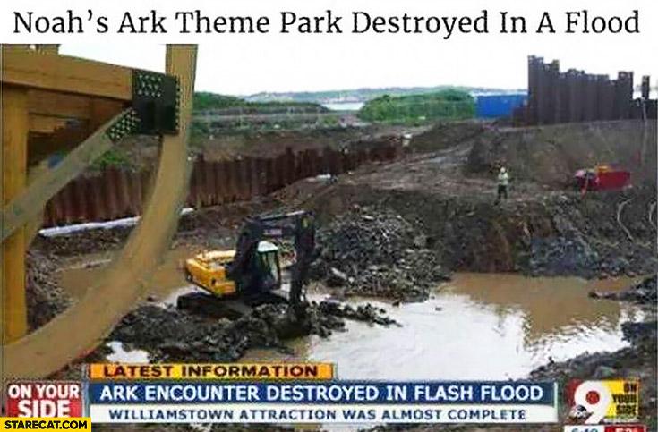 Noah's Ark theme park destroyed in a flood