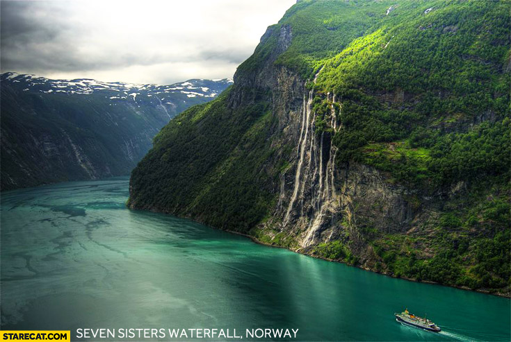 Norway Seven Sisters waterfall