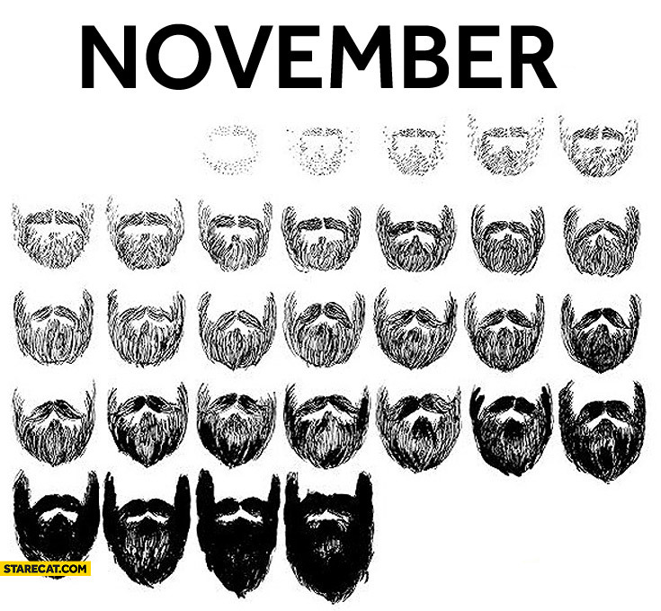 November beard