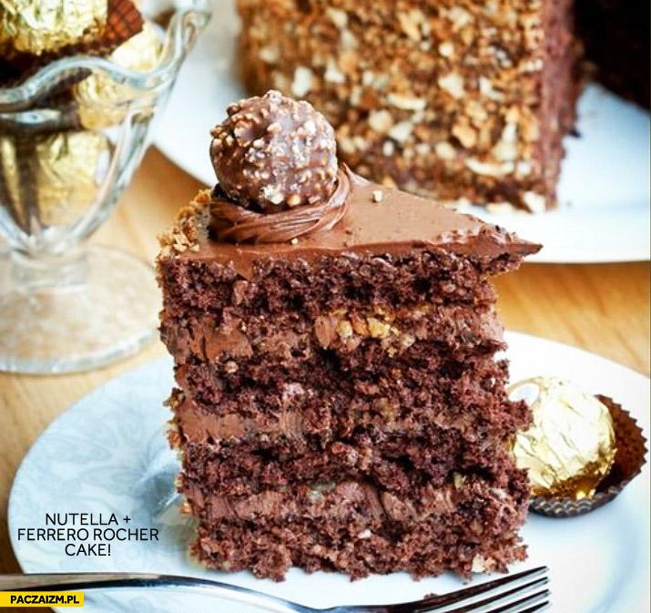 Nutella Ferrero Rocher cake