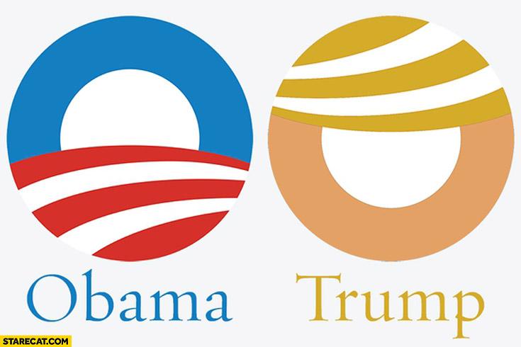 Obama Trump logo comparison