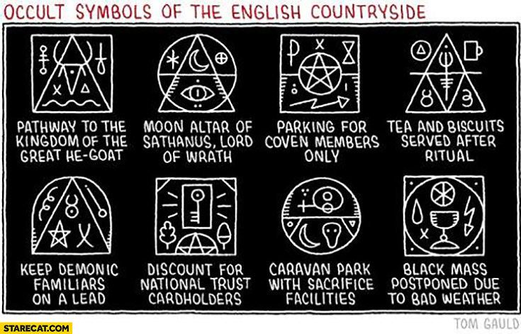 Occult symbols of the English countryside
