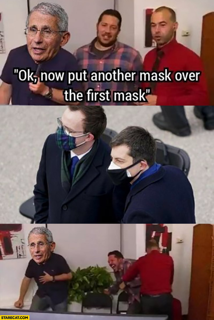 Ok now put another mask over the first mask laughing