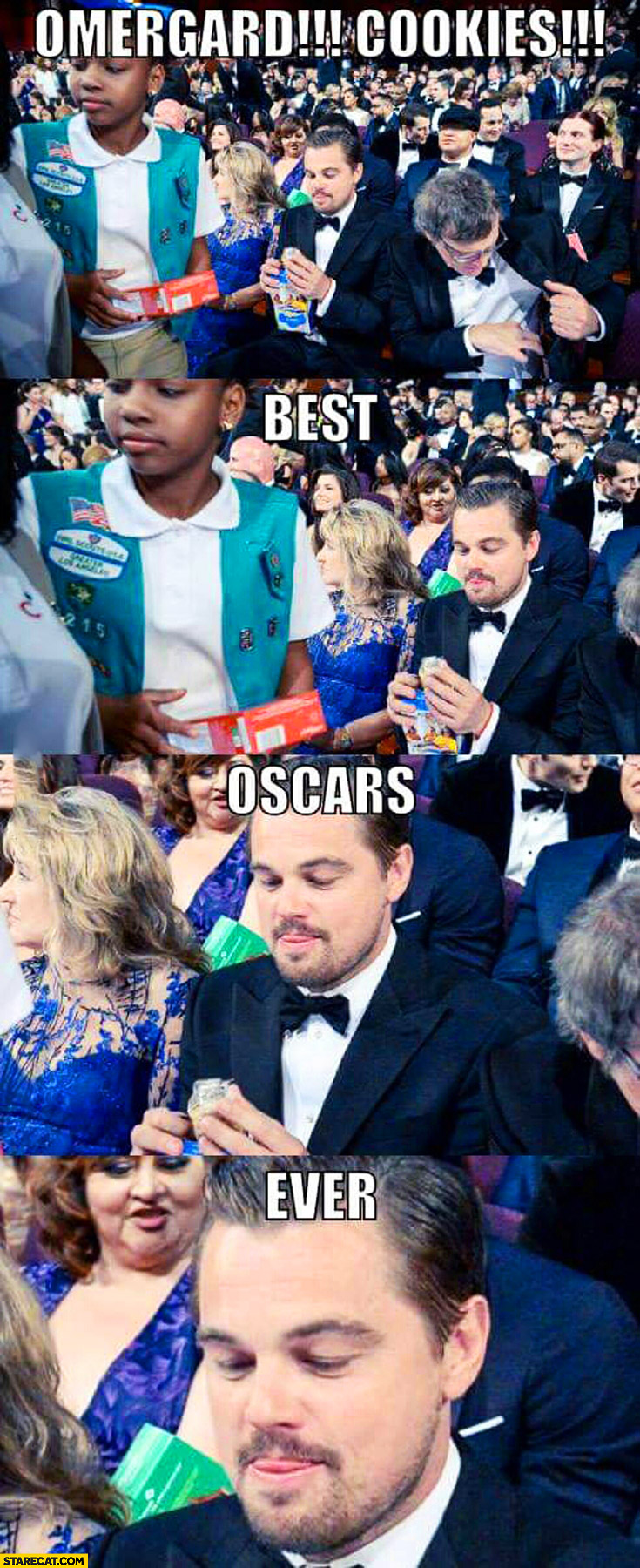 OMG cookies best Oscars ever Leonardo DiCaprio
