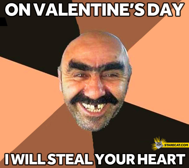On Valentine's Day I will steal your heart