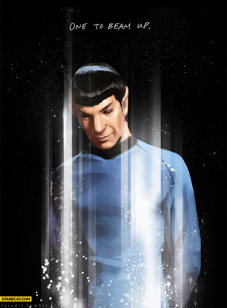 One to beam up Spock Star Trek