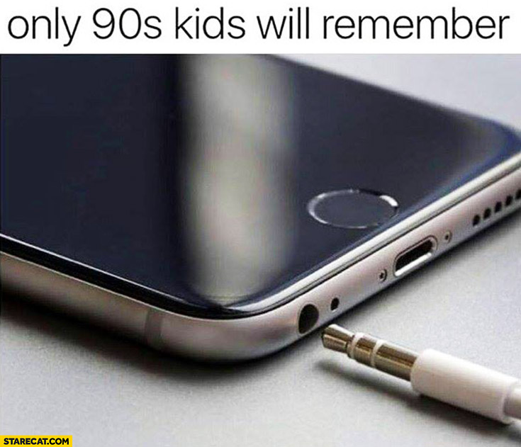 Only 90s kids will remember headphones jack Apple iPhone