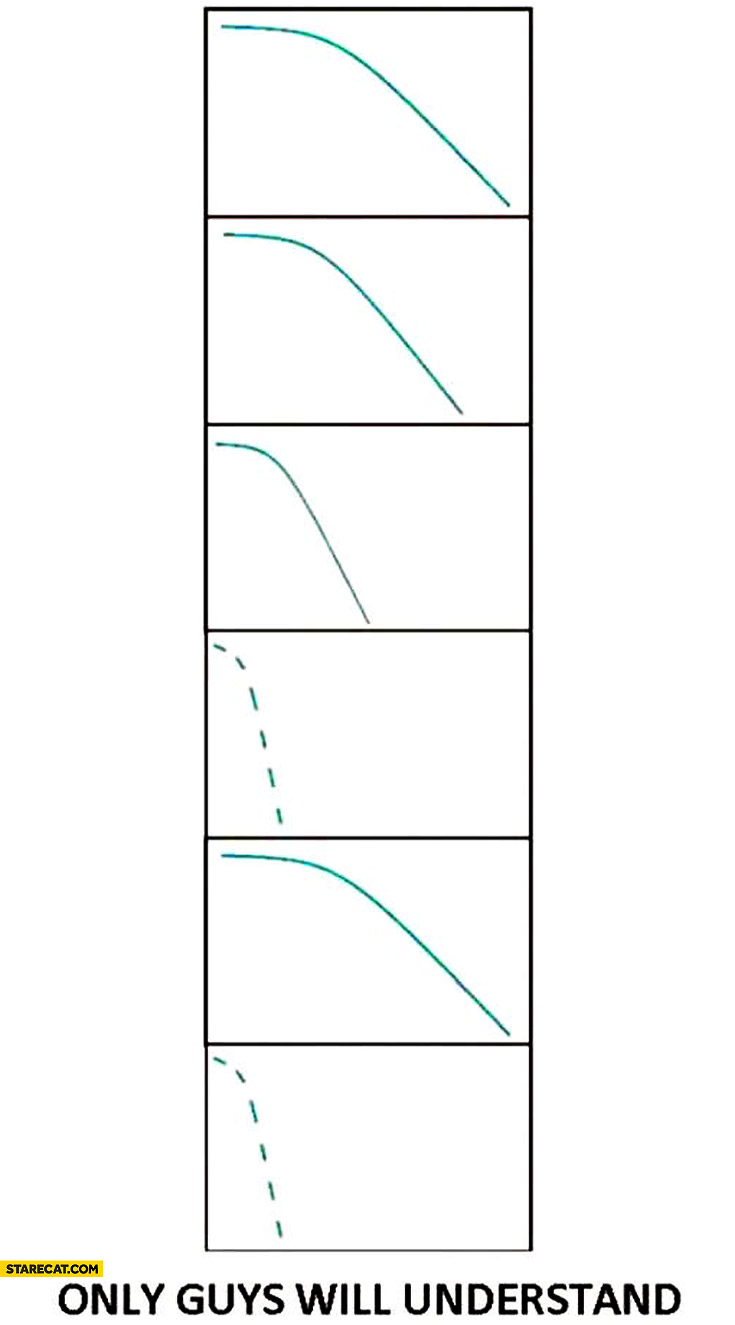 Only guys will understand peeing as a graph