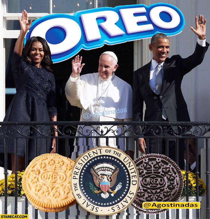 Oreo Pope Francis Barack Obama Michelle Obama