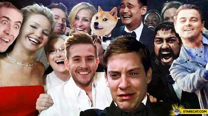 Oscars selfie memes