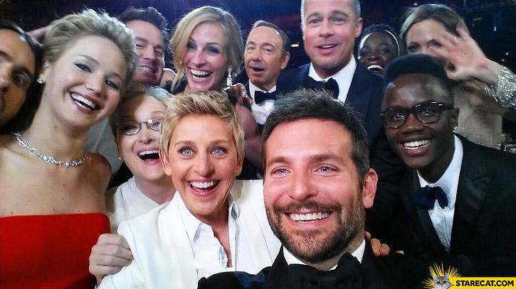 Oscars stars selfie