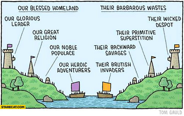 Our blessed homeland vs their barbarous wastes comparison identical kingdoms