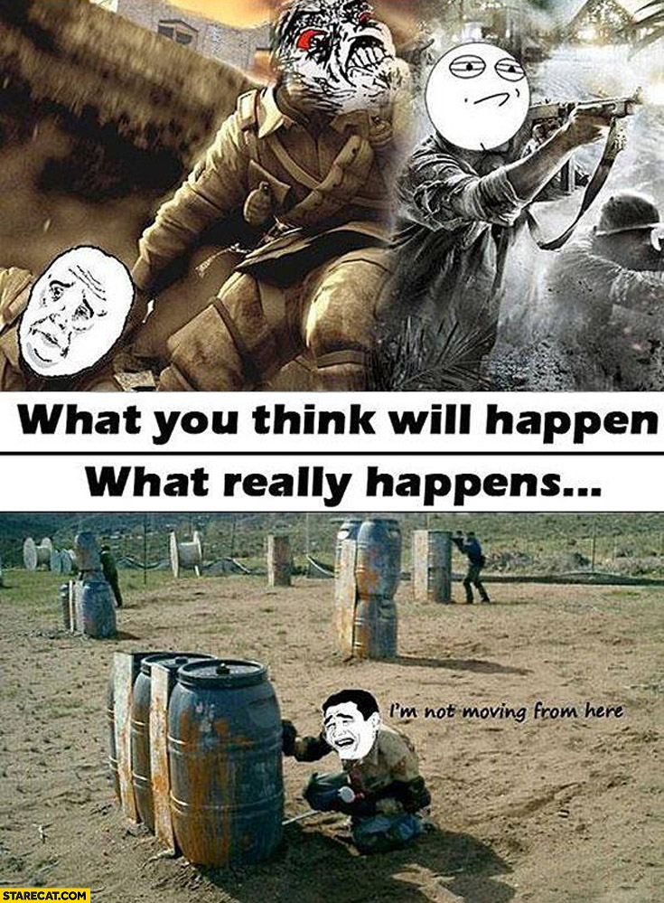 Paintball what you think will happen what really happens