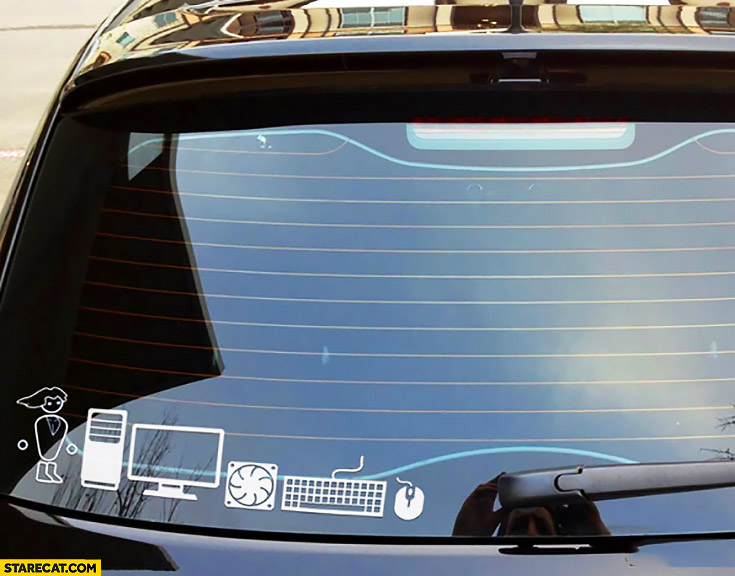 PC master race car sticker